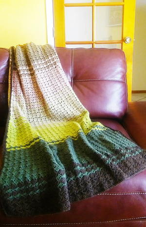 Crochet Afghan Fall Colors