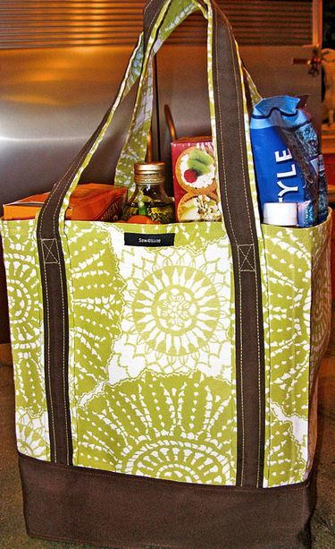 Ez Grocery Bag Tutorial Allfreesewing Com