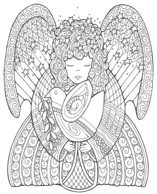Celestial Angel Coloring Page
