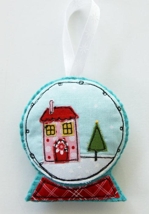 Felt and Fabric Snow Globe DIY Ornament