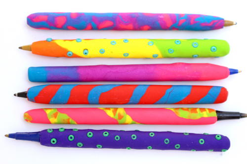 Polymer Clay Pens School Craft Project