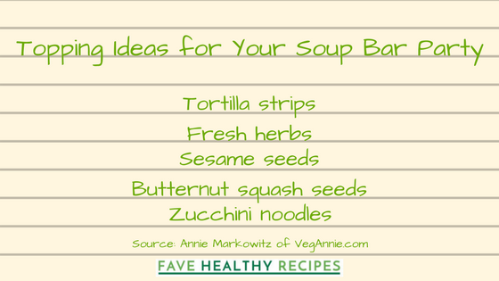 Mix-ins and Toppings for Your Soup Bar Party