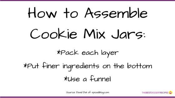 How to Assemble Cookie Mix Jars