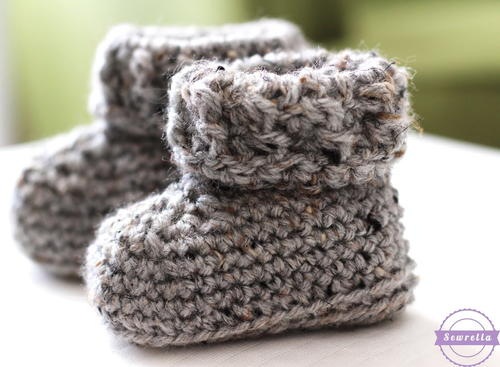 The Parker Crochet Baby Booties
