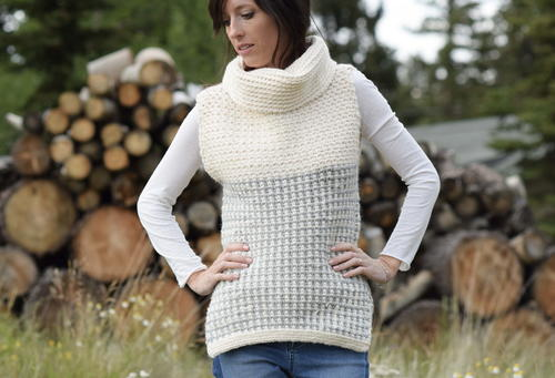 Easy Crocheted Cowl Vest