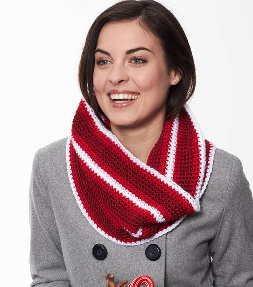 Striped Peppermint Cowl