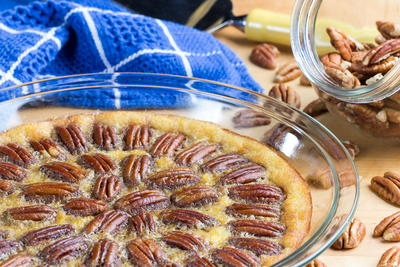 Crustless Pecan Pie