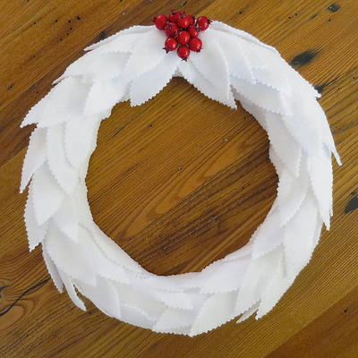 Elegant Felt Leaf Wreath