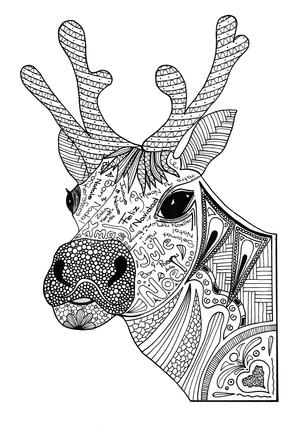 Outlined santa's hat. Coloring page outline of a bell on a santa hat. | 426x300