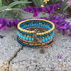 Easy Memory Wire Wrap Bracelet