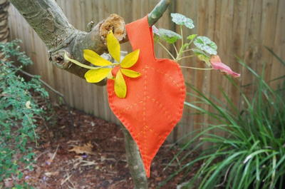 Easy to Hand Sew Leaf Bag