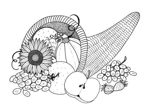 thanksgiving abstract coloring pages - photo#39