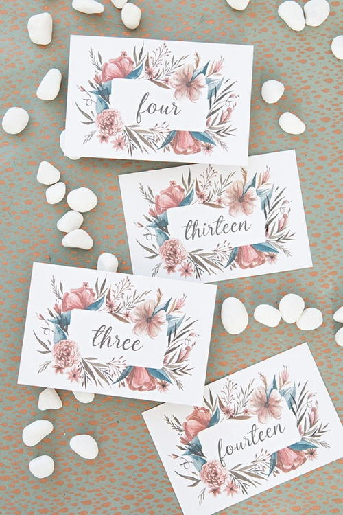 Dreamy DIY Printable Table Numbers