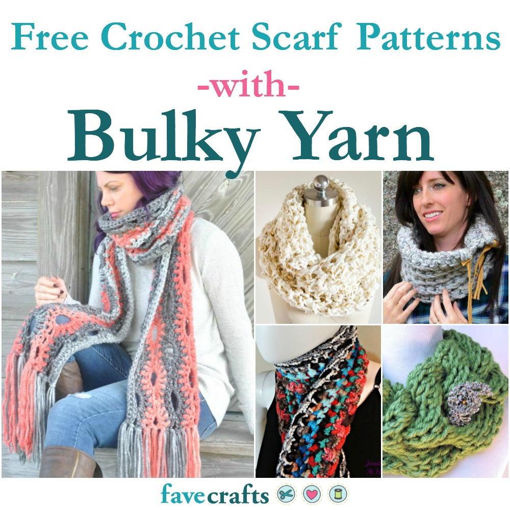29 Free Crochet Scarf Patterns Using Bulky Yarn