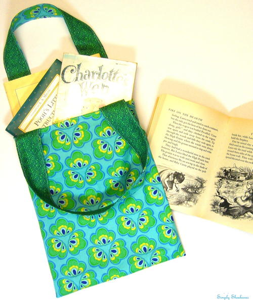 Reversible Fat Quarter Library Bag