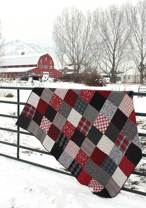 Black and Red Flannel Quilt