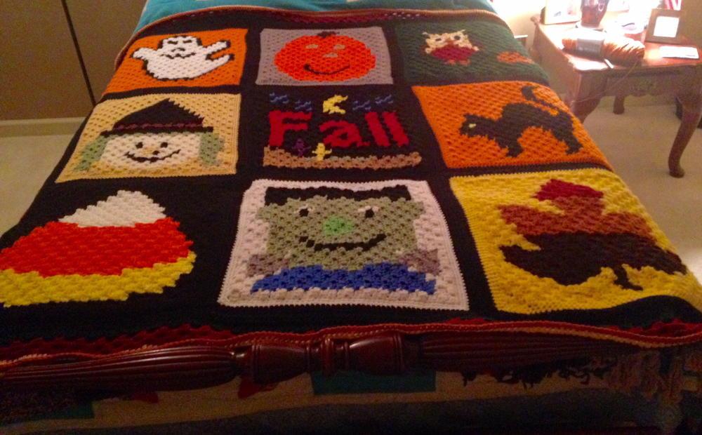 Halloween C2c Blanket Allfreecrochet Com