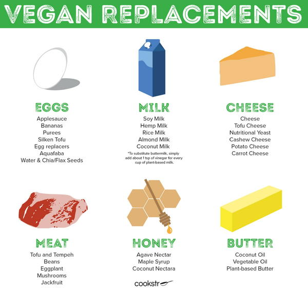 Vegan Substitutions Infographic