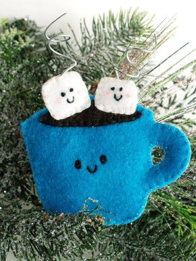 Hot Cocoa Felt Ornament