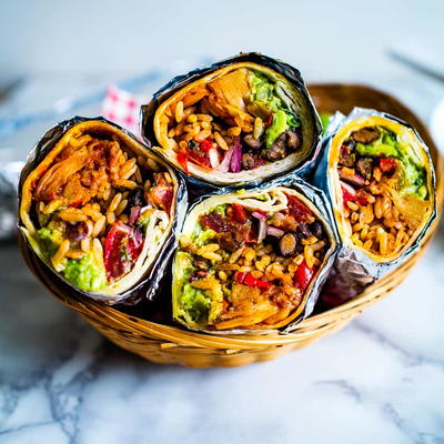 Epic Jackfruit Burritos [vegan]