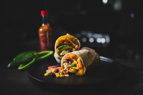 California Style Burrito with Bacon-Wrapped Jalapeno Poppers