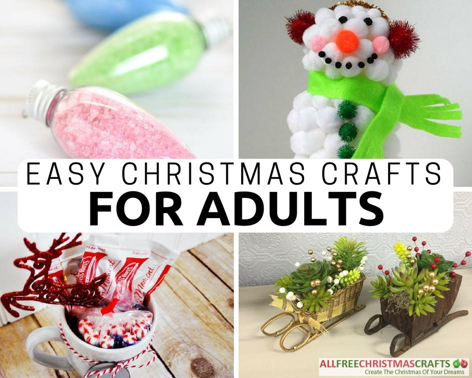 36 really easy christmas crafts for adults for Simply crafts