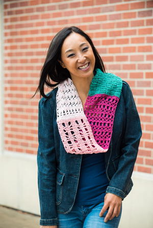 Southwestern Sunset Crochet Sampler Scarf Pattern