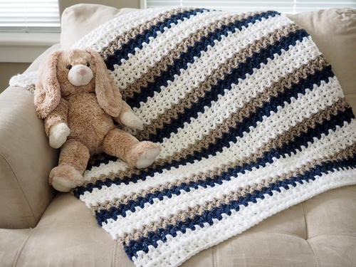 Easy Done In A Day Crochet Baby Blanket Allfreecrochetcom