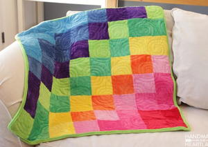 Rainbow Cuddle Fabric Quilt