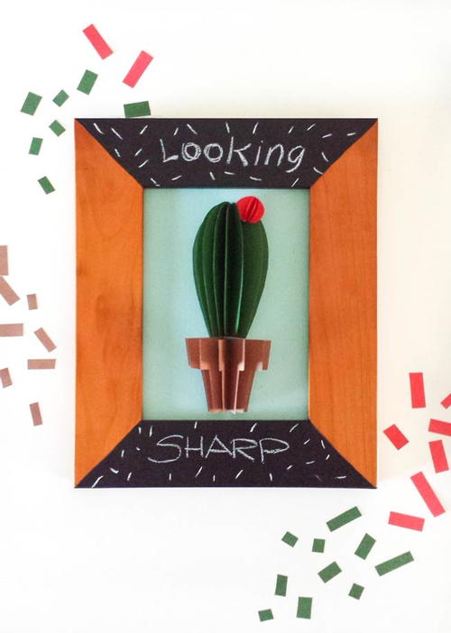 Cactus Paper Craft Wall Art