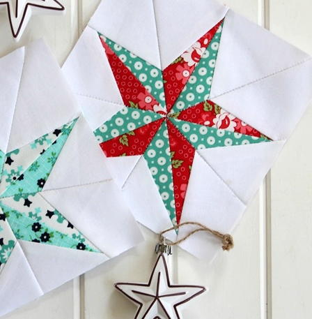 Christmas Star Quilt Block Pattern Favequilts Com