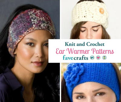 28687a3a754 23 Knit   Crochet Ear Warmer Patterns