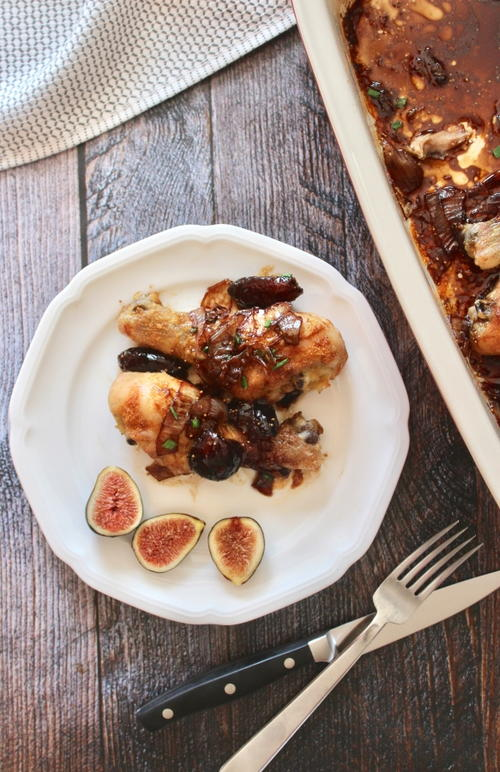 Crispy Drumsticks with Balsamic Fig Sauce