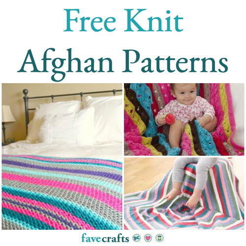 Sirdar Snuggly Knitting Patterns : 33 Free Knit Afghan Patterns FaveCrafts.com