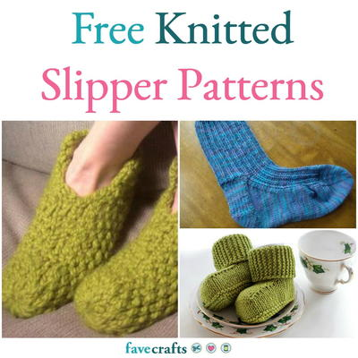 b0017d0940a 22 Free Knitted Slipper Patterns | FaveCrafts.com