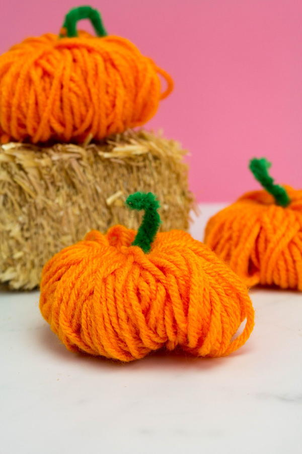 Yarn Halloween Pumpkin Decoration