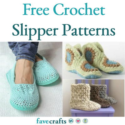 7081605d2 22 Free Crochet Slipper Patterns