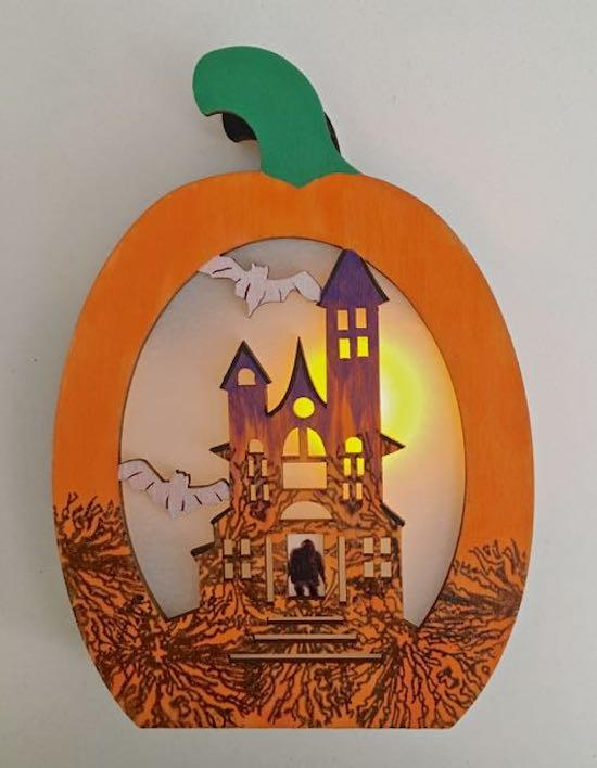 Spooky lighted haunted house for Small led lights for crafts michaels