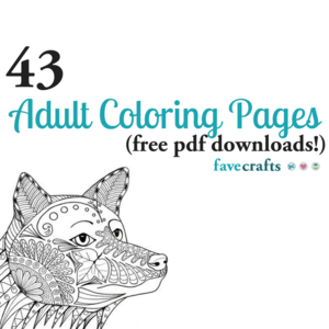 43 Printable Adult Coloring Pages (PDF Downloads ...