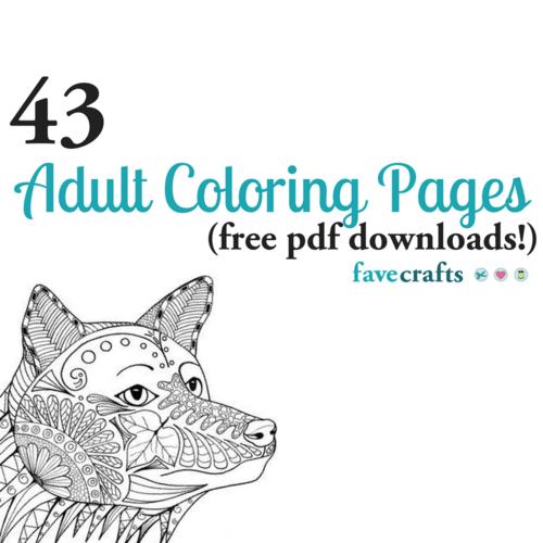43 Printable Adult Coloring Pages (PDF Downloads) FaveCrafts.com