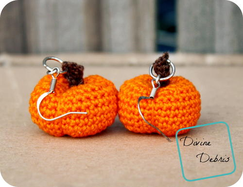 Stuffed Pumpkins Earrings