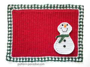 Crochet Frosty Placemat