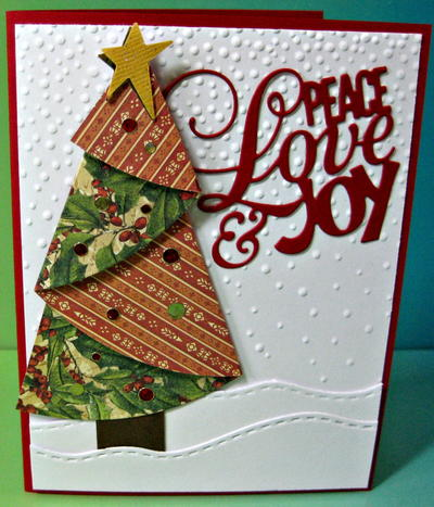 Folded Christmas Tree Holiday Card
