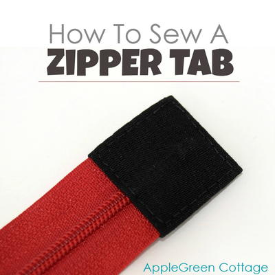 How to Sew a Zipper Tab