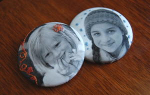 Photo Fabric Button Magnets
