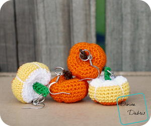 Crochet Stuffed Pumpkins Earrings