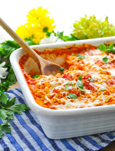 Dump-and-Bake Stuffed Cabbage Rolls Casserole