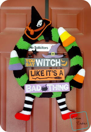 Too Cute Crochet Halloween Wreath