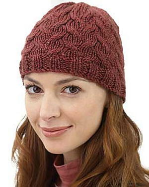 Soft Cable Hat Knitting Pattern