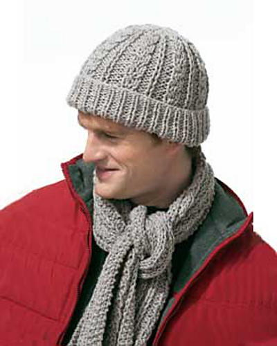 Gray Knit Scarf Set For Men Favecrafts Com